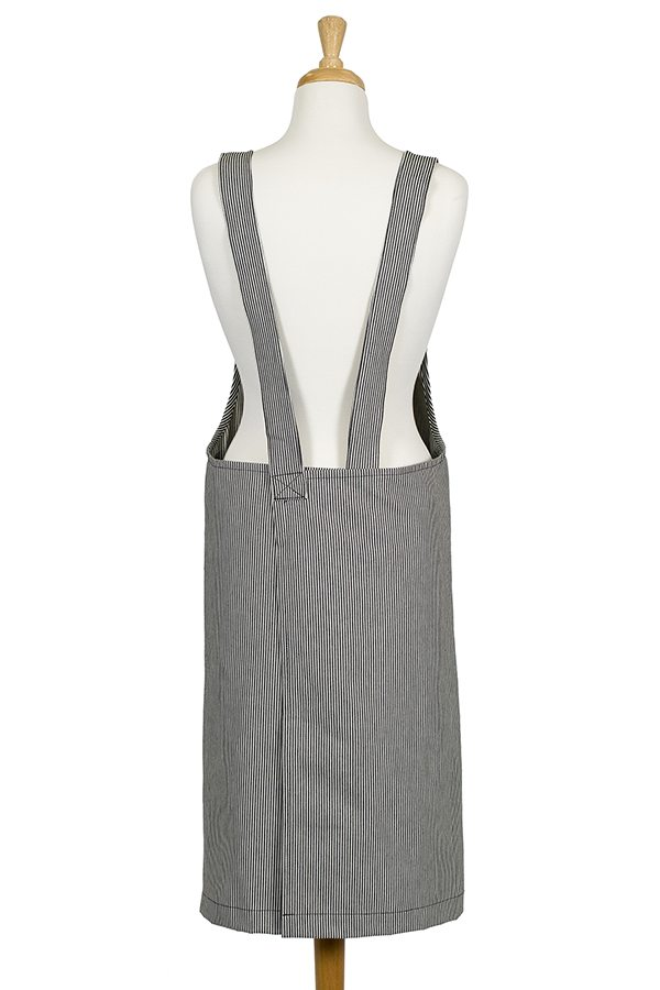 Stripe Denim Susie Pinafore Apron - Back View