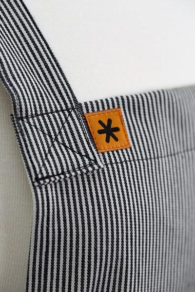Stripe Denim Susie Pinafore Apron Detail
