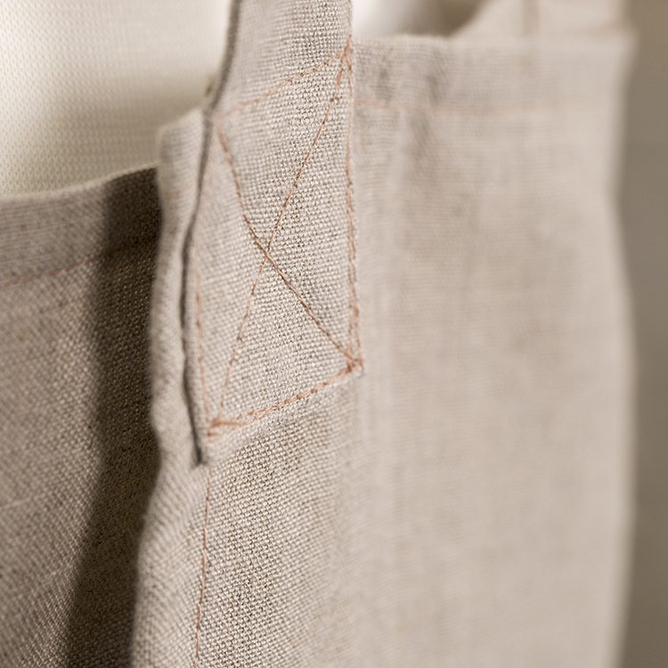 Natural Linen Susie Pinafore Apron Back Detail sq