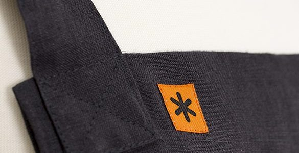 Charcoal Linen Susie Pinafore Apron Detail
