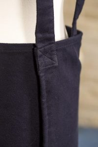 Navy Moleskin Susie Pinafore Apron Back Detail