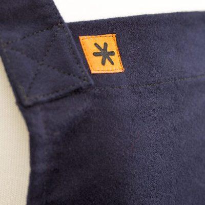 Navy Moleskin Susie Pinafore Apron Detail SQ