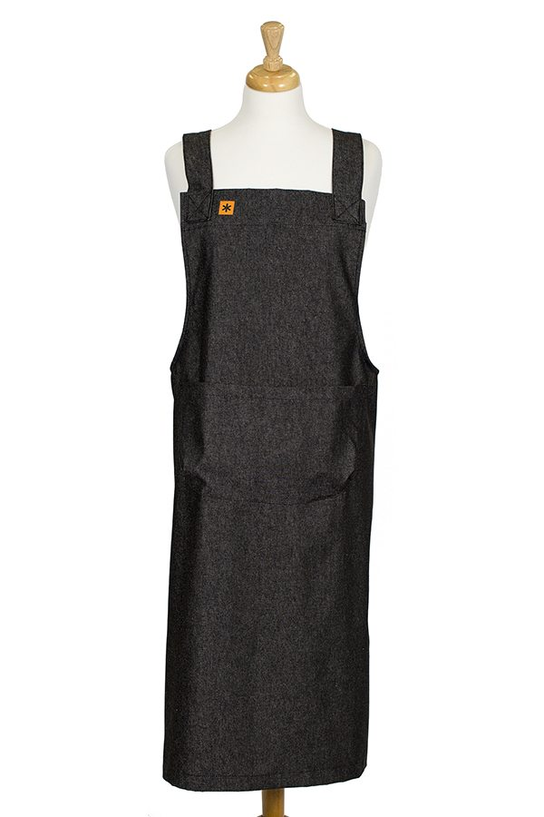Black Denim Susie Pinafore Apron
