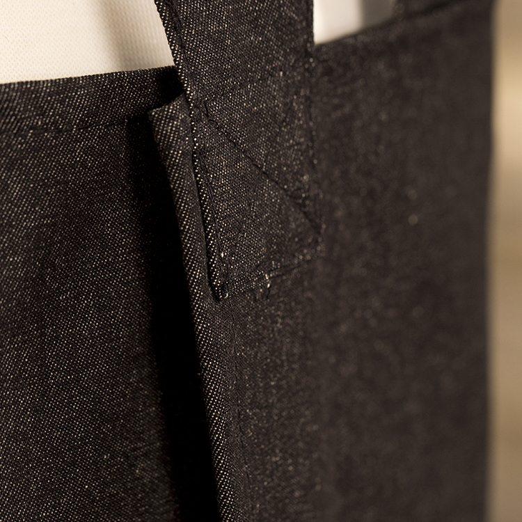 Black Denim Susie Pinafore Apron Back Detail SQ