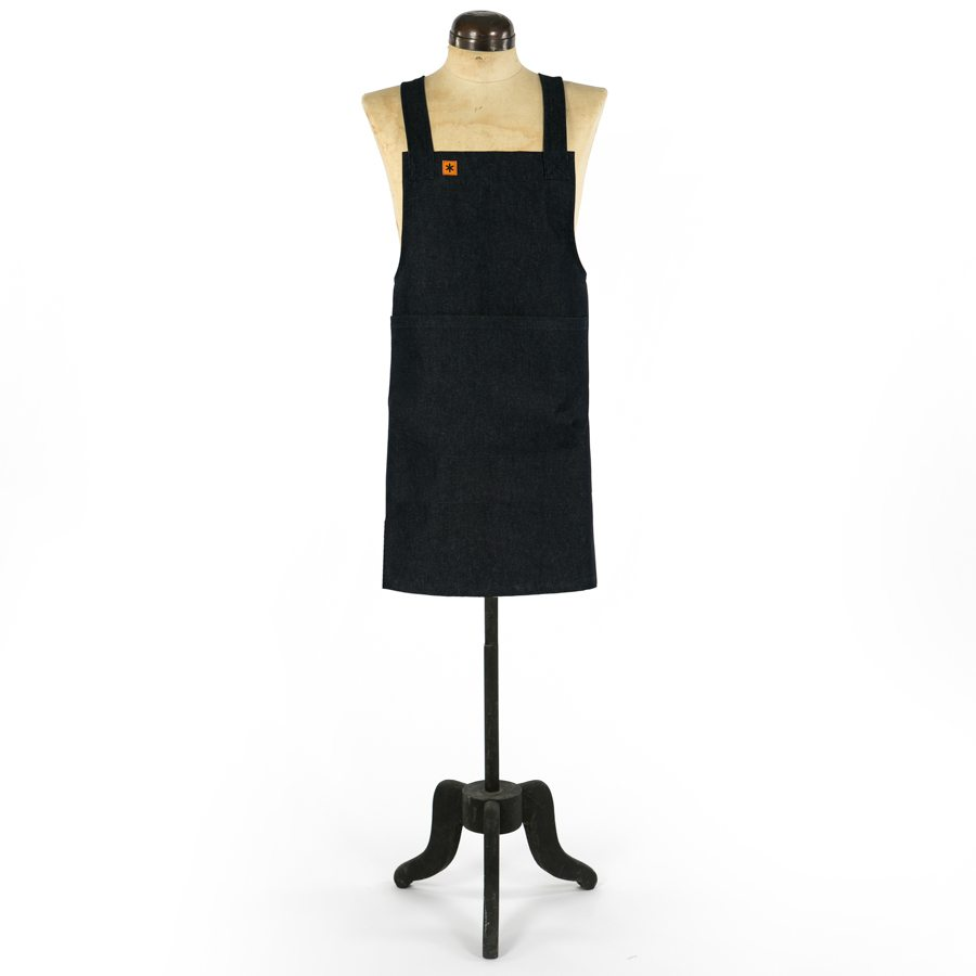 BLACK DENIM GRACE PINAFORE APRON