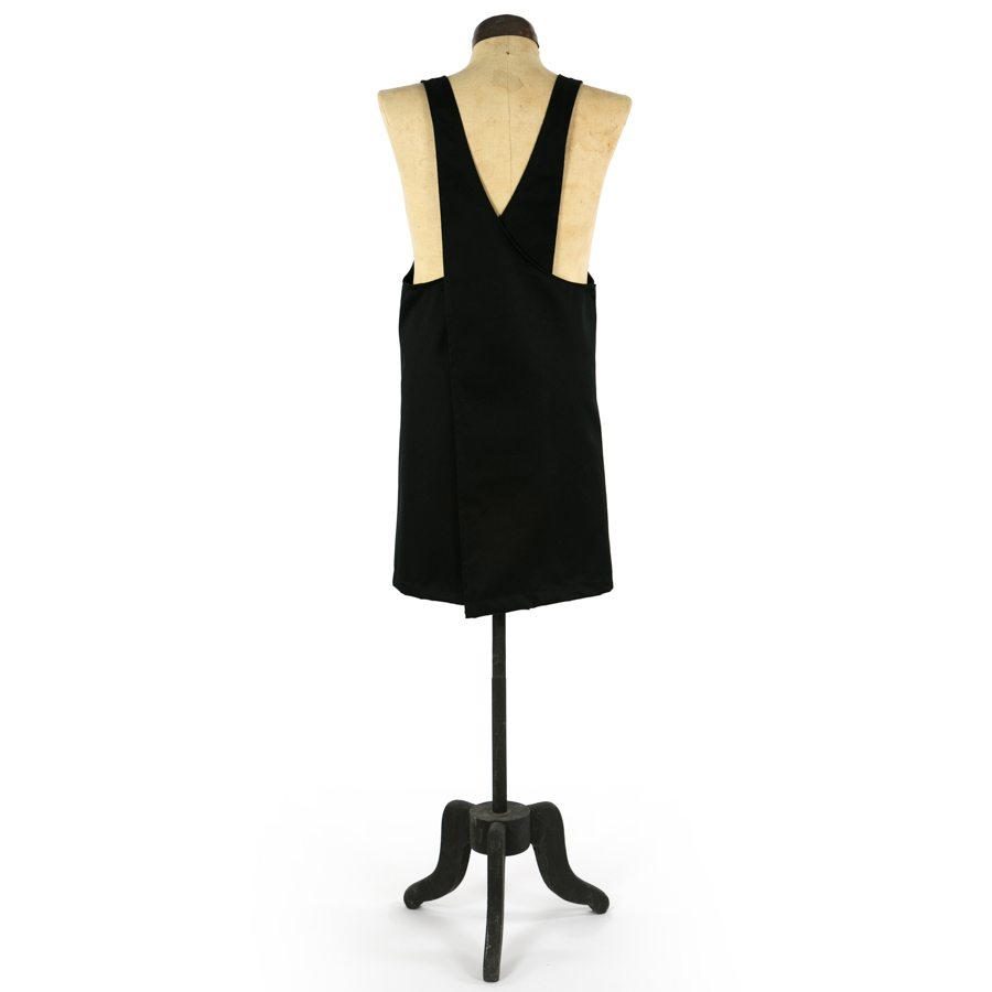 BLACK TWILL GRACE PINAFORE APRON BACK