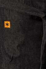 Black Denim Demi Half Apron Pocket Detail