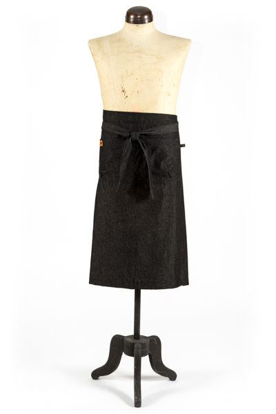 Demi Half Apron in Black Denim