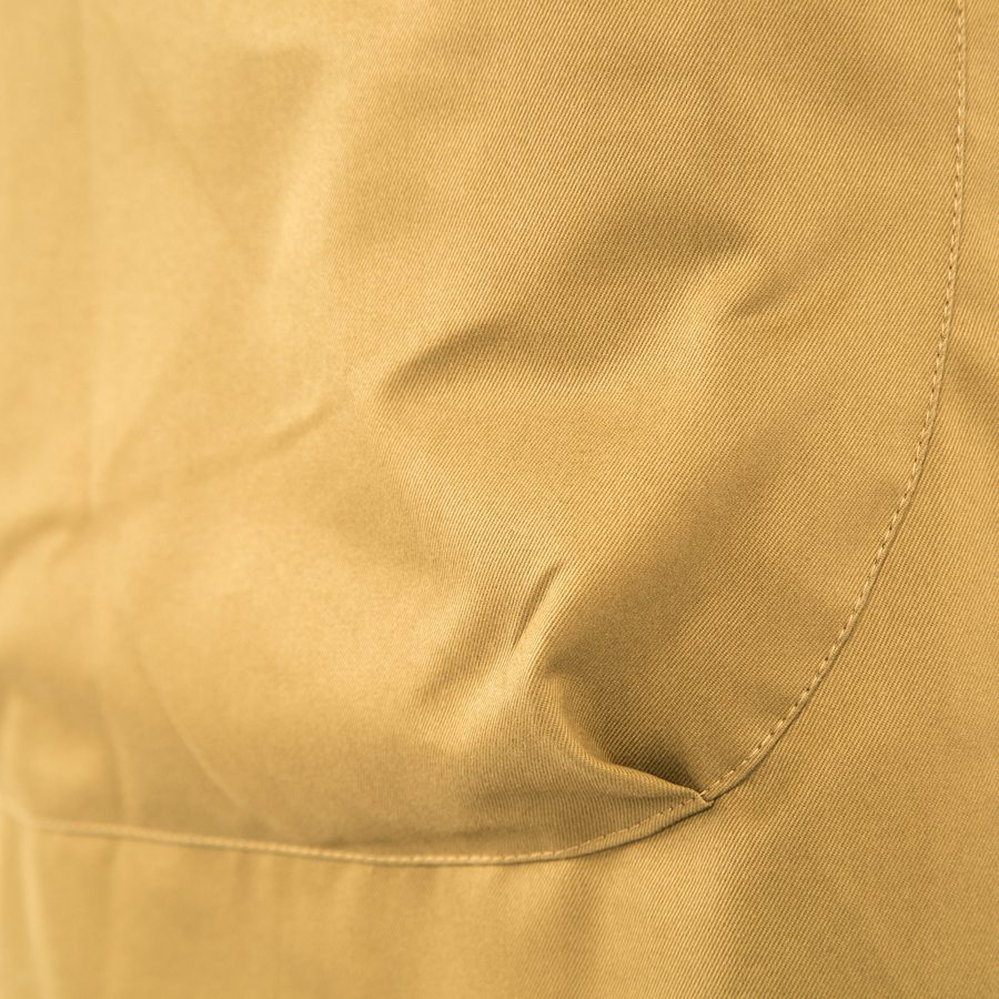KHAKI TWILL GRACE PINAFORE APRON POCKET