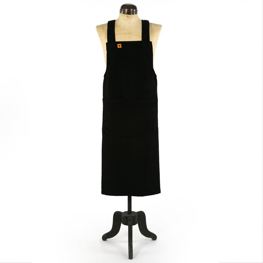 BLACK MOLESKIN MARTHA PINAFORE APRON