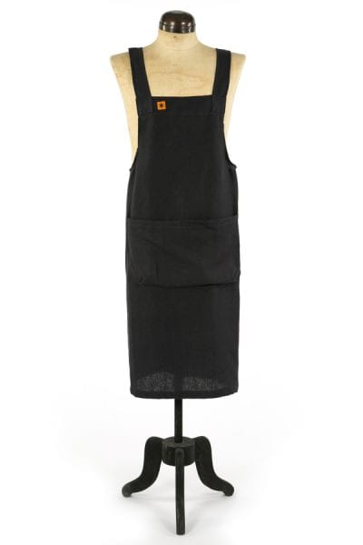CHARCOAL LINEN MARTHA PINAFORE APRON