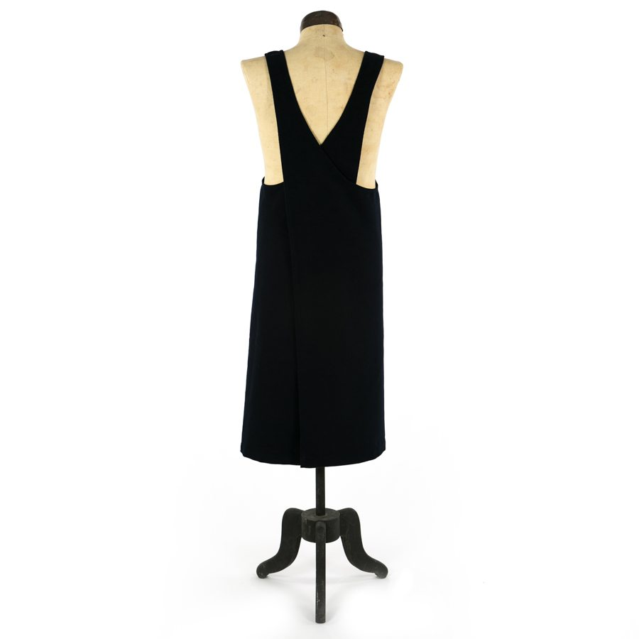NAVY MOLESKIN MARTHA PINAFORE APRON BACK