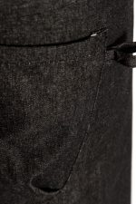 Black Demi Half Apron Pocket Loop Detail