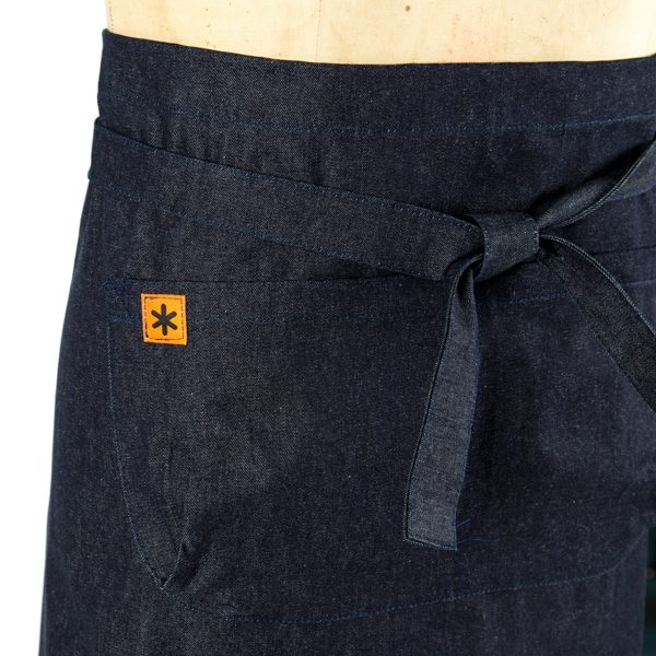 Denim, Demi Apron Back Tie Detail