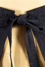 Demi Half Apron in Denim, Back Tie Detail