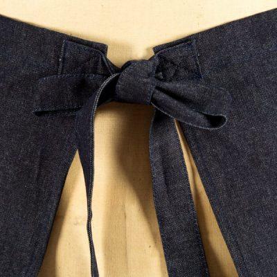 Denim Demi Half ApronDenim, Demi Apron Back Tie Detail