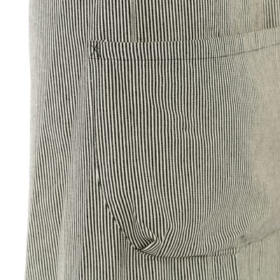 BLACK STRIPE POCKET DETAIL