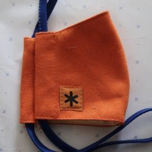 Orange Cotton Face Mask