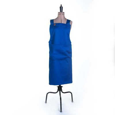 Bright Blue Basic Artisan Workwear Apron