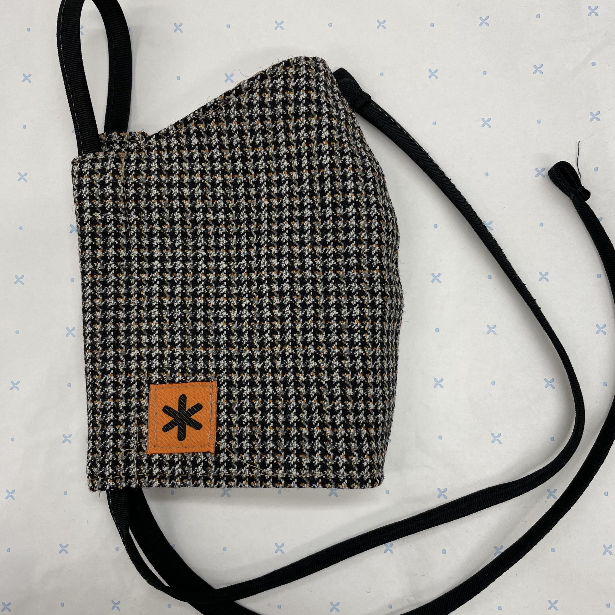 Small Check Tweed Face Mask